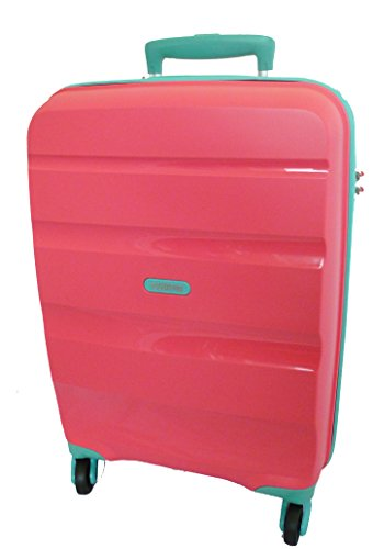 American Tourister TrolleyBagaglio a mano BON AIR Spinner S Coral/Acquamarine art. 59422...