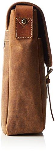 James Tyler Ledertasche Manchester aus gewachstem Büffelleder, ca. 37 x 29 x 9 cm Cognac Vintage