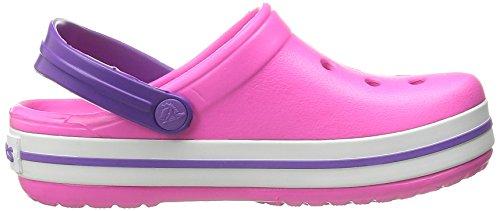 Crocs Band K, A bout rond mixte enfant Rose (Neon Magenta/Neon Purple)
