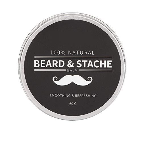 Simlug Bartwachs für Männer Schnurrbartpflege Growth Conditioner Balm Softener Cream 60g - Heilende Feuchtigkeitsspendende Balsam