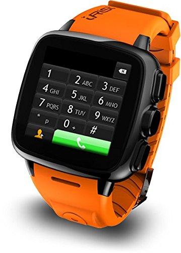 "Intex IRist - WatchPhone Android (pantalla 1.56"", cámara 5 Mp, 4 GB, Dual-Core 1.2 GHz, 512 MB RAM), naranja"