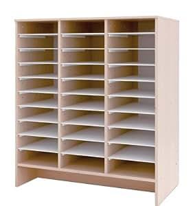 meuble de rangement et de classement en bois de 30 cases. Black Bedroom Furniture Sets. Home Design Ideas