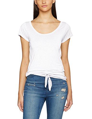 True Religion Damen T-Shirt Knot, Weiß (White), 34 (Hersteller Größe:Small)