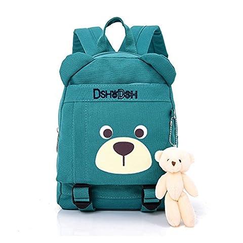 Rucksack Kinder Babyrucksack Kindergarten rucksack Backpack Kleinkind Schultasche-Grün