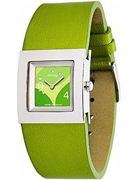 Moog Paris Harmony Damen Uhr mit Grün Zifferblatt, Swarovski Elements & Grün Armband aus Echtem Leder - M41353...