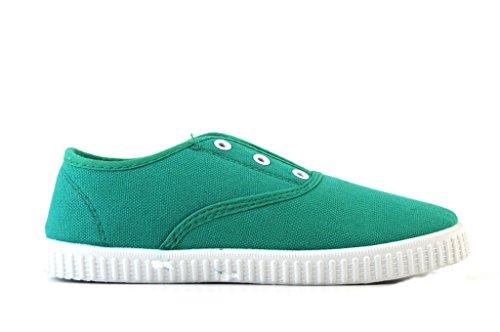 Mädchen Sneaker 28-33 Stoffturnschuhe Turnschuh Mädchen Schuhe schwarz rosa grün Grün