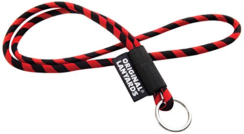 original-lanyards-leis-label-with-key-ring-multi-coloured-red-black