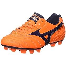 Mizuno Morelia Club MD, Scarpe per Allenamento Calcio Uomo, (Orangeclownfish/Peacoat/Silver), 41 EU