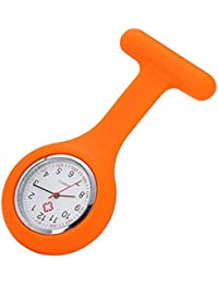 Womens Nurses Fob Watch Brooch, Infection Control Design, Health Care Nurse Doctor Paramedic Medical Brooch Fob Watch,Beautytop Womens Quartz Watches,Ladies Watches Sale Under 5 Pounds (orange)