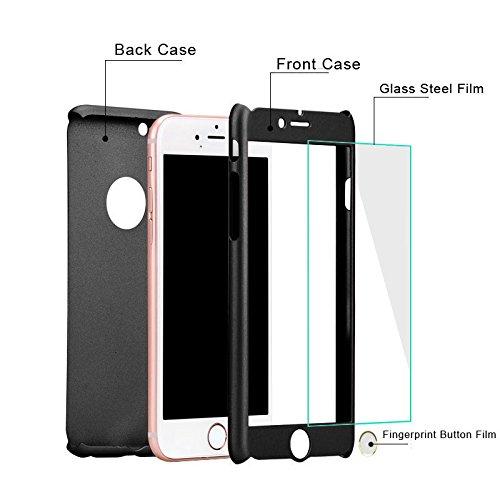 Per iPhone 6 6s (4.7 pollice) Cover , ivencase Copertura Cover Case Custodia Nero nero