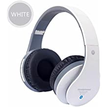 K-DD Auriculares inalámbricos Bluetooth sobre la oreja - Super Bass Huge Muff Auriculares Bluetooth 16 horas de juego, construido en Micrófono de llamada con un cable auxiliar y un estuche portátil , 3