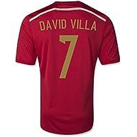 2014-15 Spain World Cup Home Shirt (David Villa 7) - Kids