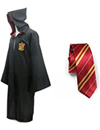 Harry Potter Gryffindor School Fancy Robe Cloak Costume And Tie (Size M)