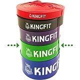 KINGFIT Bande Elastiche Resistenza Elastici Fitness Fascia Elastica Loop Bands per Palestra,...