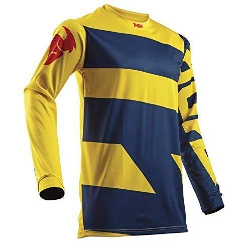 THOR PULSE LEVEL YOUTH Motocross Kinder Jersey 2018 - blau gelb -
