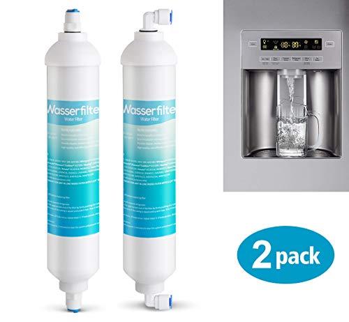 2 x Wasserfilter für Samsung LG AEG Ersatz Externer Kühlschrank Wasser Filter