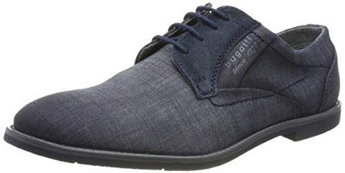 Business Casual Schuhe (bugatti Herren 313111176900 Derbys, Blau (Blue 4000), 43 EU)
