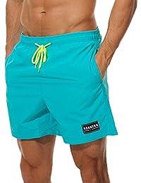 a123ce0d4 Imixcity Hombre Bermudas Bañadores de Natación Pantalones Cortos Baño  Bóxers ...