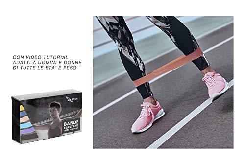 Zoom IMG-6 kit 6 elastici fitness fasce