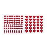 122feltro cuore adesivo, cuori in feltro, in 4diverse misure