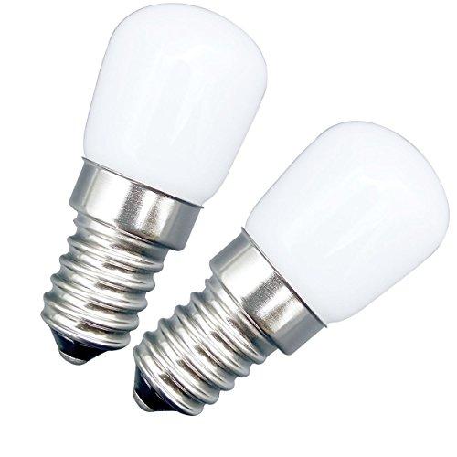 Grüne Glas-schirm-ersatz ([2 Stück] E14 Kleine Schraube LED Licht 2W Ersatz 20W Halogen lampe Helle Sanft  Licht 6000K kühlesweiß 220-240V AC Lumen 180 Panorama 360 ° Blickwinkel - Nicht Dimmbar Geringe Hitze Kühlschrank Lampe / Nähmaschine / Abluftventilator Light / Smoking Lamp)