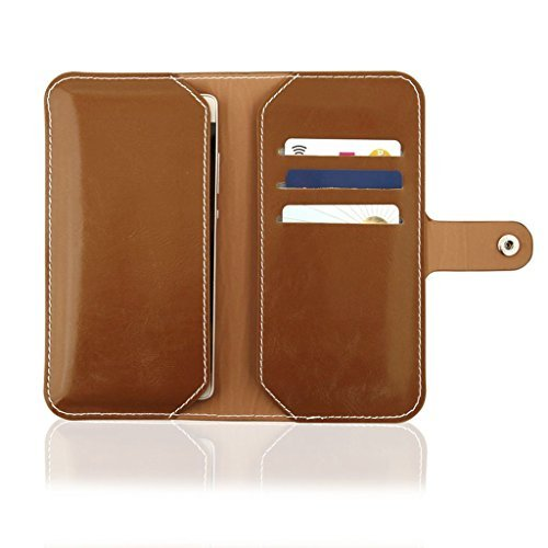Custodia a Libro Flip Case Wallet adatto per Apple iPhone 6 6S rigida custodia cover book case portafoglio marrone