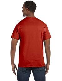 Hanes TAGLESS Men`s T-Shirt - Best-Seller, 5250, XL, Deep Red
