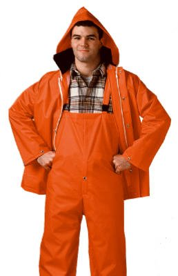 TINGLEY RUBBER - Blaze Orange Jacket/Bib Overall Complete Rain Suit, Medium (Blaze Bib)