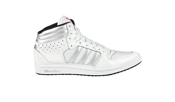 adidas Womens DECADE HI SLEEK W Hi Top Sneakers White Weiß