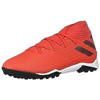 adidas Men's Nemeziz 19.3 Turf Soccer Shoe, Active Red/Silver Metallic/Solar Red, 9.5 M US