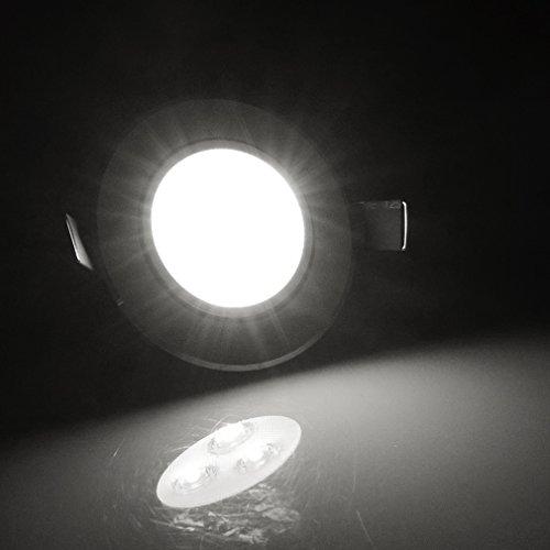 12er Auralum® Elegant 3W 6000-6500K Weiß LED Spot Einbauleuchte Deckenleuchte Strahler