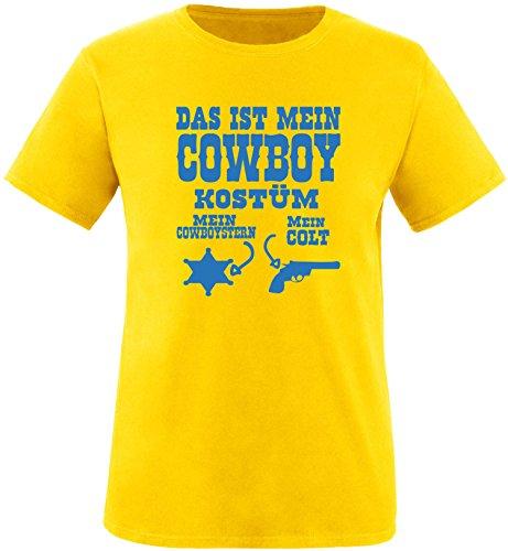 Luckja Das ist mein Cowboy Kostüm Herren Rundhals T-Shirt Gelb/Blau