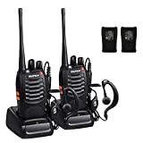 Walkie Talkie BF-888S, Sunreal Rechargeable Long Range Two Way Radio Built in LED