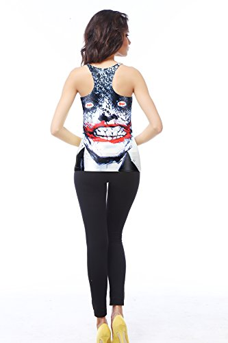 yinxiang Liying Damen Sexy Slim Cartoon Charakter Tank Top Ärmelloses T-Shirt Weste Mehrfarbig - Clown