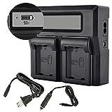 PHOTO MASTER NP-FW50 - Batteria e caricatore USB per fotocamere Sony