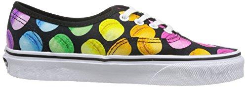 Vans Damen Authentic Sneakers Schwarz/Mehrfarbig