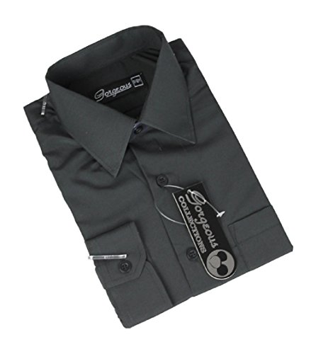 Ozmoint Boys Formal Prom Black Long Sleeve Shirt Shirts Weddings Proms ceremonies Parties (6 Months-16 Years)