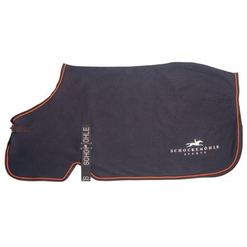 Schockemöhle 1730-00021 Transport-/Abschwitzdecke Horse Sweater, 135 cm grau/orange