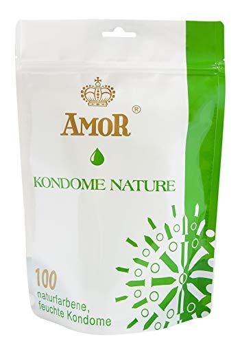 Amor Nature Premium Kondome im Standbodenbeutel, 100er Pack