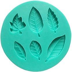 Umiwe(TM) Molde de Silicona de 6 Cavidad Hojas Hermosas de Fondant, Molde de Decoración para Tarta y Azúcar, Color Aleatoriamente con Umiwe Accesorio