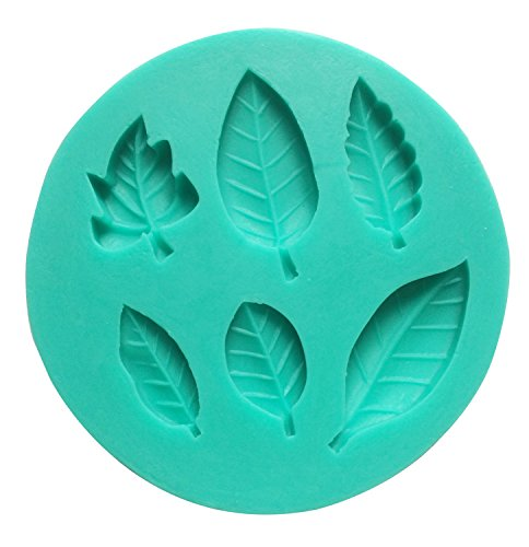Umiwe(TM) Swing Form DIY Kuchendekoration Schmelz Silikon Zuckerguss MoldsWith Umiwe Accessoire - 6 Hohlraum Blätter Form