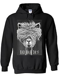 Perky Fashion Bad Hair Day Llama Lama Novelty White Femme Homme Men Women  Unisex Sweat à 52b546cd90fa