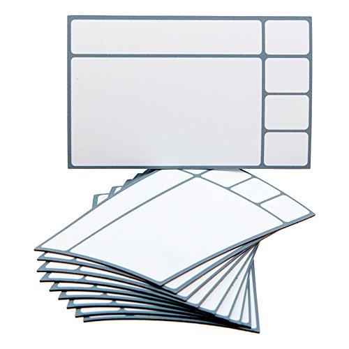 10 magnetische Karten in Grau/Variante mit 4 kleinen Feldern für Scrum Board, Kanban Tafel, Task Board, Lean Board u.v.m.