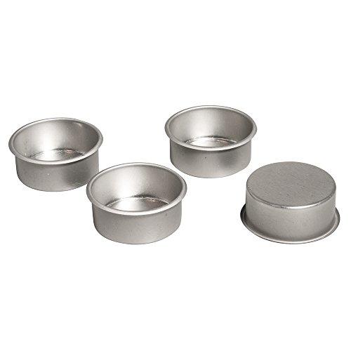 Rayher 56936000 Metall-Teelichthalter, 4,1cm ø, Box 4Stück
