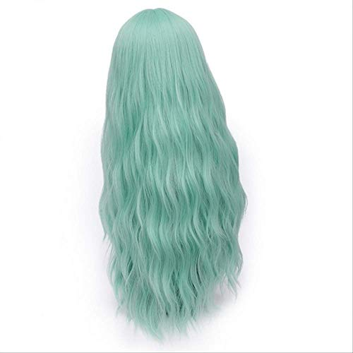 Kind Perücke Kostüm Ariel - XLWYNG longs cheveux ondulés perruques,Damen Cosplay Kostüm Party Perücke Party Perücke,Perücken für Frauen, light green 6 28inches
