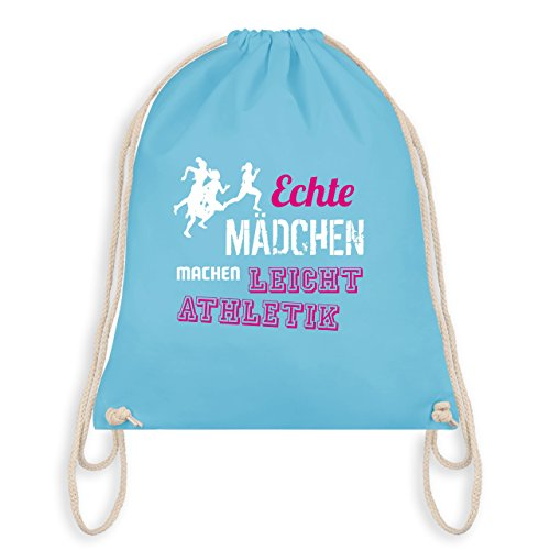 Sonstige Sportarten - Echte Mädchen machen Leichtathletik - Unisize - Hellblau - WM110 - Turnbeutel & Gym Bag