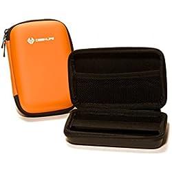 """Case4Life Orange 2,5"""" rigide housse Étui disque dur externe pour Maxtor STSHX-M101TCBM, Maxtor STSHX-M201TCBM - Garantie à vie"""