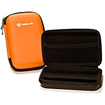 Case4Life Arancia Duro Antiurto Borsa custodia per fotocamera digitale per Nikon Coolpix A, AW110, AW120, AW130, J4, J5, L610, S32, S33, S800c, S810c, S9200, S9300, S9400, S9500, S9600, S9700, S9900 - Garanzia a vita