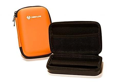 """Case4Life Orange 2,5"""" rigide housse Étui disque dur externe pour Western Digital WD Elements / My Passport Ultra / Edge / Mac / Enterprise / Air / Studio / Essential 1To, 2To"""