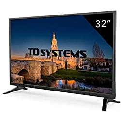 """TD Systems k32dlm7h–TV LED da 32"""" (HD, 3X HDMI, VGA, 2X USB lettore e registratore) Colore nero"""